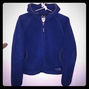 The North Face fleece hooded zip up coat  jacket